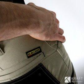 Pantalon de travail été Blaklader beige noir