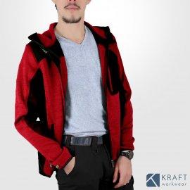 Gilet de travail à capuche Blaklader 4930 rouge noir