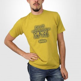 "T shirt de travail ""Do it"" Dike jaune ocre"