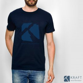 T shirt homme Kraft Workwear marine
