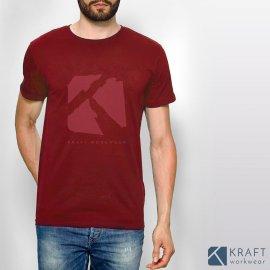 T shirt homme Kraft Workwear rouge