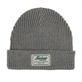 Bonnet en laine tricotée Snickers gris
