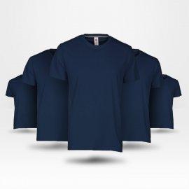 Pack de 5 tee-shirt économique bleu marine