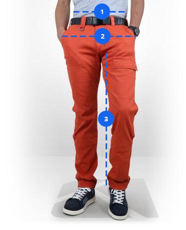 Guide des tailles Kraft Workwear pour les pantalons