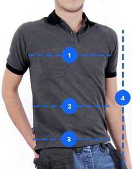 Guide des tailles Kraft Workwear pour les hauts 1