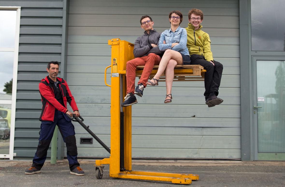 Jean, Vianney et Aude, l'équipe de Kraft Workwear